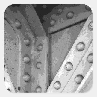 Tema Digital Art. de la construcción Pegatina Cuadradas Personalizadas