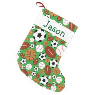 Tema dinámico de los deportes de la diversión calcetín navideño pequeño