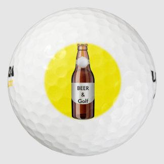 Tema divertido del golf pack de pelotas de golf