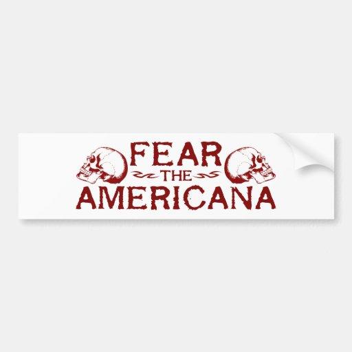 Tema el americana pegatina de parachoque