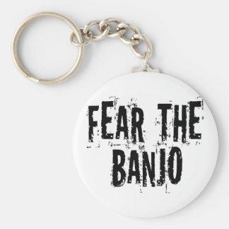 Tema el banjo llavero redondo tipo pin