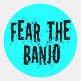 Tema el banjo etiqueta redonda