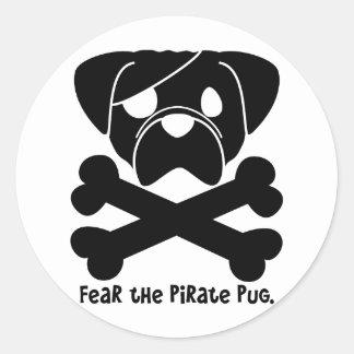 Tema el barro amasado del pirata pegatina redonda
