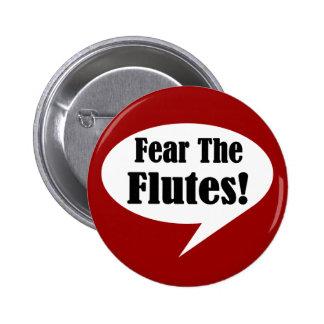 Tema el botón de la flauta pin redondo de 2 pulgadas