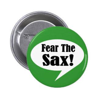 Tema el botón del saxofón del saxofón pin redondo de 2 pulgadas