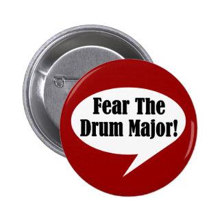 Tema el botón del tambor mayor pin redondo de 2 pulgadas