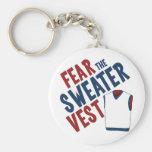 Tema el chaleco del suéter llavero personalizado