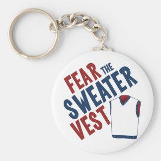 Tema el chaleco del suéter llavero redondo tipo pin