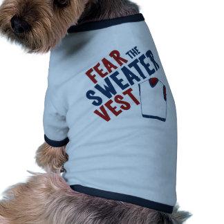 Tema el chaleco del suéter camiseta con mangas para perro