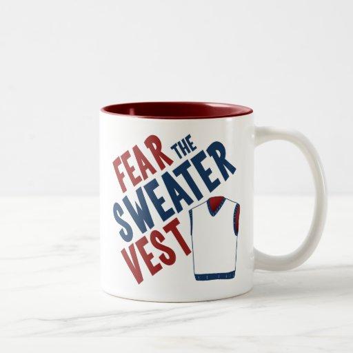Tema el chaleco del suéter taza de café de dos colores