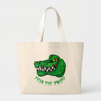 Tema el cocodrilo del pantano bolsa tela grande