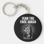 Tema el lavado de la cara llavero personalizado