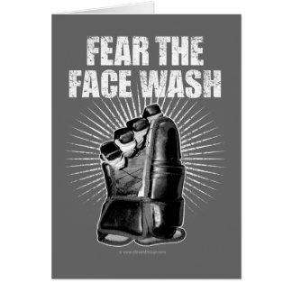 Tema el lavado de la cara tarjeta de felicitación