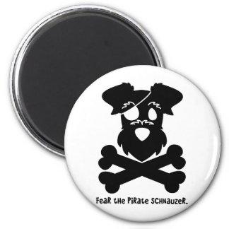 Tema el Schnauzer del pirata Imán Redondo 5 Cm