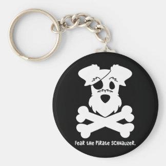 Tema el Schnauzer del pirata Llaveros Personalizados