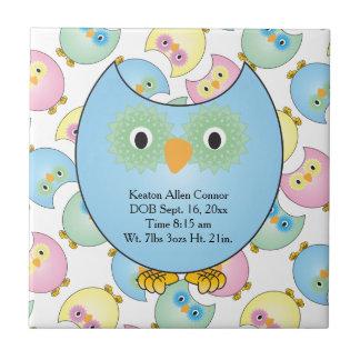 Tema en colores pastel del cuarto de niños del azulejo cuadrado pequeño