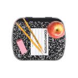 Tema especial de la escuela del profesor latas de dulces