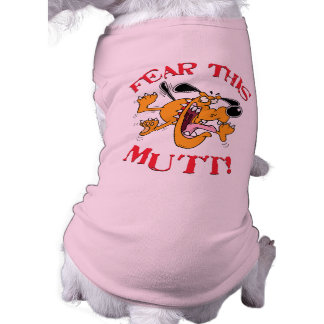 ¡Tema este Mutt! Persiga la camisa Playera Sin Mangas Para Perro