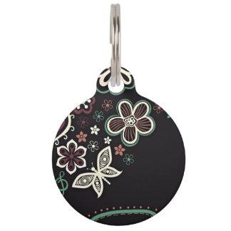 Tema floral identificador para mascota