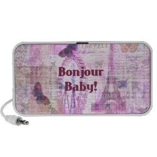 Tema francés de París de la frase del bebé de Bonj Laptop Altavoz