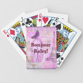 Tema francés de París de la frase del bebé de Bonj Barajas