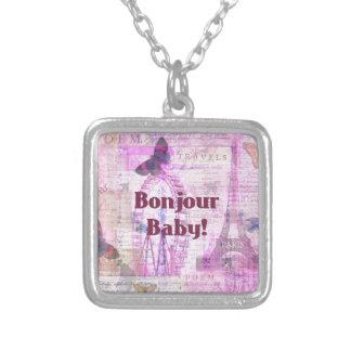 Tema francés de París de la frase del bebé de Bonj Colgante