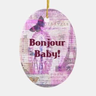 Tema francés de París de la frase del bebé de Bonj Adornos