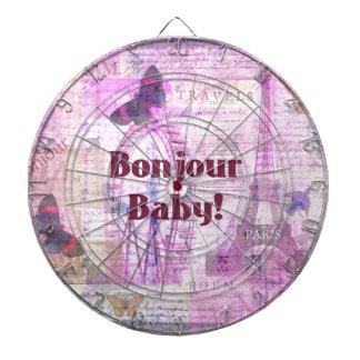 Tema francés de París de la frase del bebé de Bonj Tablero Dardos