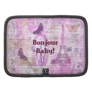 Tema francés de París de la frase del bebé de Bonj Planificador