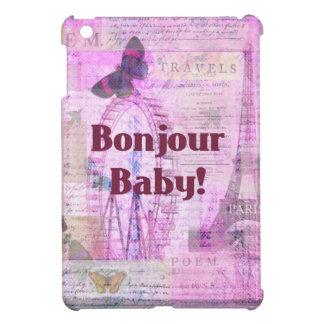 Tema francés de París de la frase del bebé de Bonj