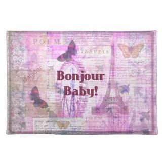 Tema francés de París de la frase del bebé de Bonj Mantel