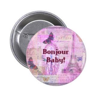 Tema francés de París de la frase del bebé de Bonj Pins