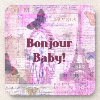 Tema francés de París de la frase del bebé de Bonj Posavaso