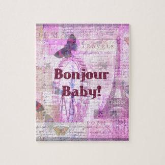 Tema francés de París de la frase del bebé de Bonj Puzzle