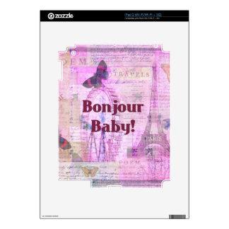Tema francés de París de la frase del bebé de Bonj Calcomanía Para iPad 2