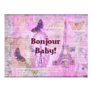 Tema francés de París de la frase del bebé de Bonj Postales