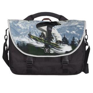 Tema fresco de los deportes de invierno del huéspe bolsas para portátil