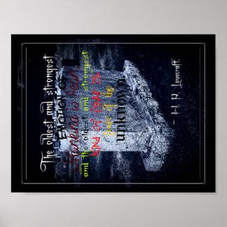 """Tema grave 11"""" x 8,5"""", papel de poster del valor"""