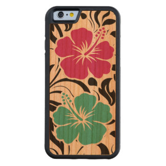 Tema hawaiano tropical funda de iPhone 6 bumper cerezo