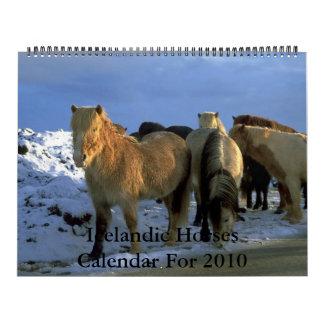 Tema islandés de 2010 caballos del calendario