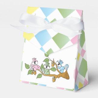 Tema juguetón de la fiesta de bienvenida al bebé cajas para regalos