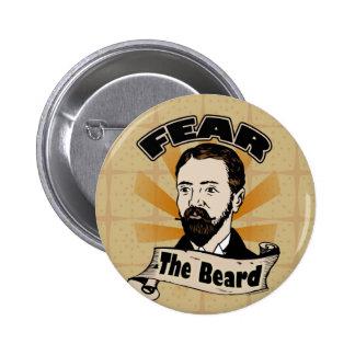 Tema la barba bigote divertido pin