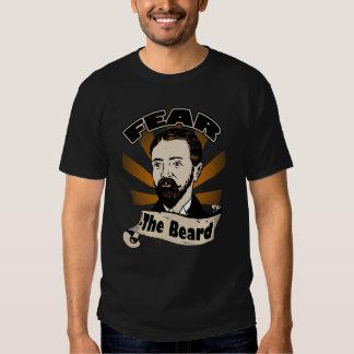 Tema la barba, bigote divertido playera
