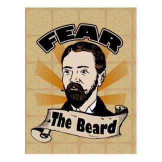 Tema la barba bigote divertido postales
