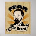 Tema la barba, bigote divertido posters
