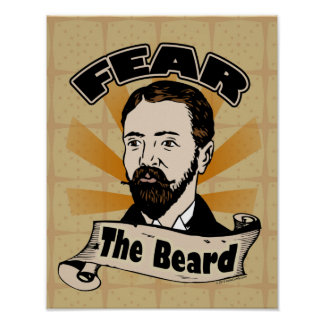 Tema la barba bigote divertido posters