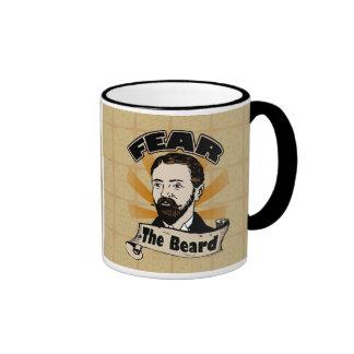 Tema la barba, bigote divertido taza de café