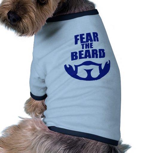 Tema la barba camiseta de mascota