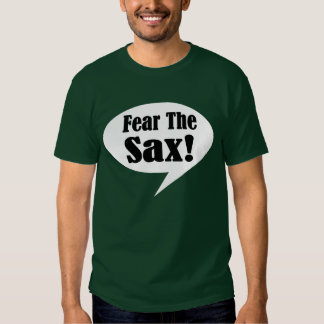 Tema la camiseta para hombre del saxofón playera