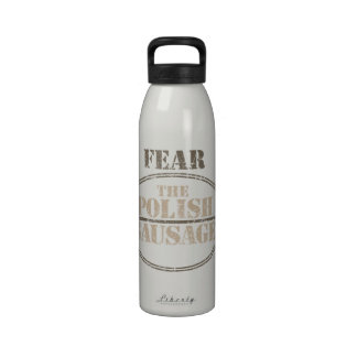Tema la salchicha polaca botella de beber